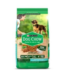 dog chow cachorro sin colorante